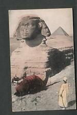 post card- The Great Sphinx Egypt Josephine Barton to Ashville NY