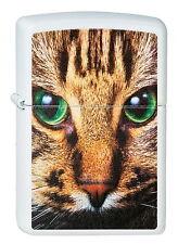 ZIPPO Feuerzeug GREEN EYED CAT white matte Katze NEU OVP Sammlerstück!!