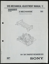 Original SONY VHS Mechanical Adjustment Manual VI S-Mechanism o229