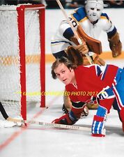GUY LAFLEUR Crashes The NET vs Buffalo 8x10 Photo MONTREAL CANADIENS HOF GREAT