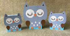 Blue Owl Balloon Centerpieces. Birthday party, Baby shower. Set of 3