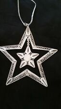 RARE Sterling Silver Christmas Ornament - Double Star