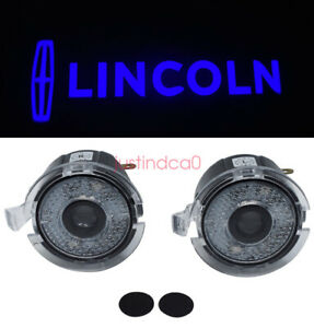 2x Blue Side Mirror Laser LED courtesy Shadow Light For LINCOLN MKT 2010 - 2013