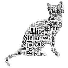 Personalised Cat Word Art Print Great Gift Mum Dad Nan Grandad Friend Birthday