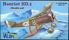 Valom Models 1/144 French HANRIOT HD.1 Fighter Dual Combo Kit