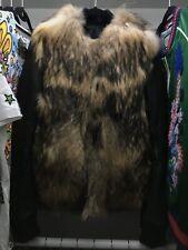 Balmain Raccoon Fur Bomber Leather Jacket