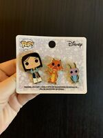Disney Funko Enamel Pin Set Mulan, Mushu & Crickee 3 Pack Box Lunch Exclusive