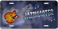 JAZZMASTER JAZZ GUITAR LICENSE PLATE, can be personalized