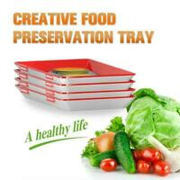 4pcs Healthy Creative Food Preservation Tray Kitchen Container Tools TOP St S9Y1