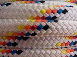 """3/8 """" x 100 ft. Double Braid~Yacht Braid Polyester rope.Made in USA."""