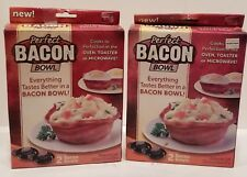 2 (Perfect Bacon Bowl 2 Pc) As Seen On TV Kitchen Gadget Cooker Microwave Oven