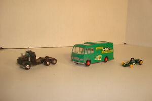 LOT 3 MATCHBOX CARS KINGSIZE K5 TRANSPORTER K16 DODGE DUMP TRUCK & LOTUS PARTS