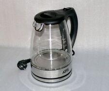 AFK 2210 GLAS Wasserkocher 1,7 Liter drehbar 360° LED 2200W Kabellos Black Chrom