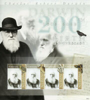 Grenada Charles Darwin Stamps 2009 MNH Famous People Science Birds Turtles 4v MS