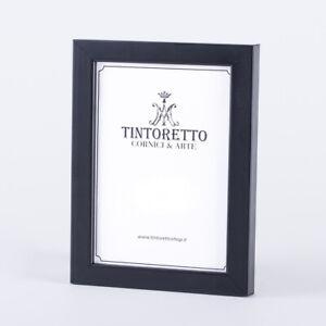 Cornice color per foto, stampe, diplomi colore nero opaco serie 256 in legno