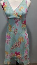 B. Moss NEW Womens Dress NWT Size 2 Blue Floral Ruffle Sleeveless Wrap Top -278