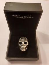 THOMAS SABO RING RING TOTENKOPF REBEL  AT HEART !!
