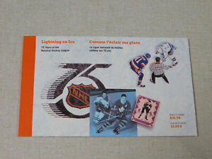 1992 Canada Lightning on Ice 75 Years of the NHL stamp booklet