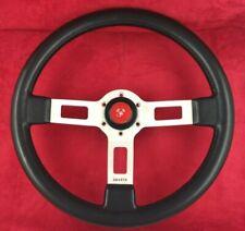 Genuine OEM Abarth 370mm black steering wheel. Fiat, Lancia etc. RARE! 7A