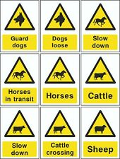 NO 1 Countryside & Agriculture, Farming Self Adhesive Signs A6 A5 A4
