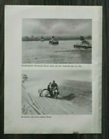 AQ) Blatt 2.WK Panzer Krad Melder Motorrad 1940 Polen Nida Offiziere Auto WWII