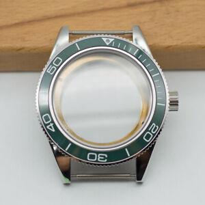 41mm Watch Case Green Ceramic Bezel Sapphire Cystal Fit ETA 2824/2836 Movement