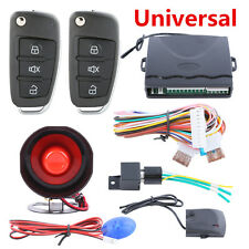 Car Alarm System w/ Flip Key Remote Control Central Door Locking Keyless Entry
