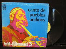 Inti-Illimani 3 - Canto de Pueblos Andinos on Vedette VPA 8227 Stereo, Italy