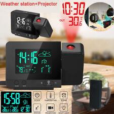 Wetterstation Uhr Netzteil Projektionsuhr Wecker Uhr Kalender Digital Anzeige