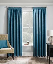 "MATRIX Woven Design Thermal Block Out Lined 3"" Pencil Pleat Lined Curtains"