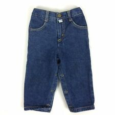 Baby Guess Jeans Size 18 M Medium Blue Wash Snap Tapered Legs Vtg 80s USA