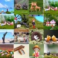 Miniature Animals Fairy Garden Landscape Figurine Bonsai Pot Fish Tank DIY Craft