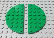 LEGO New Lot of 2 Green 4x8 Double Rounded Corner Plate Pieces