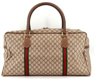 Authentic GUCCI Sherry Line Old Gucci Duffle Boston bag