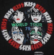 2XS/XS * NOS vtg 70s 1979 KISS concert tour t shirt * KS4 band