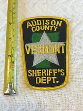 Addison County VT Vermont Sheriff's Department Police Patch Large Unused!!!