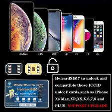 Heicard Unlock Turbo SIM Card For iPhone X XR XS Max 8 7 6 Plus SE 5 4G ICCID yu