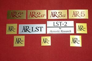 AR Logo Plates 'Remanufactured'