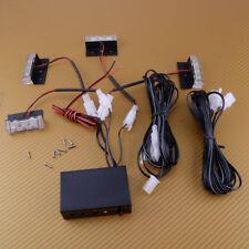 12 LED Red+Blue Dash Strobe Fog Flash Emergency Warning Lights Visor Deck Lamp