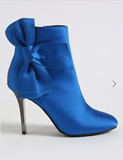 M&S COLLECTION  Stiletto Side Zip Bow Ankle Boots Size 6.5 &7