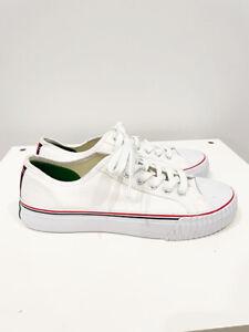 Designer P.F. Flyers Size 8.5 AU 6.5 US 39.5 EU White Canvas Women's Sneakers