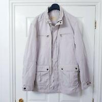 M&S Collezione Mens Jacket Size XL Beige Latte Zip up Pockets Lightweight Coat
