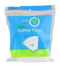 100 Simply Done #4 Coffee Filters 8-12 Cup Cone Style Coffee Maker Filter NEW