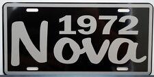 1972 72 NOVA METAL LICENSE PLATE SS SUPER SPORT 350 396 427 CONVERTIBLE COPO