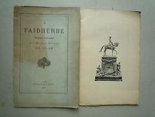 1896 HOMMAGE A FAIDHERBE PRESIDENT D'HONNEUR DE LA SOCIETE DE GEOGRAPHIE  LILLE