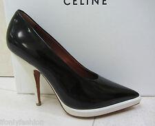 NIB CELINE PARIS Platform Black White Classic Pumps Shoes 37