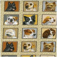 Perros Plazas Para Perritos Delight paneles Colchas de retazos de tela 55 paneles cada 8 Cm Cuadrado