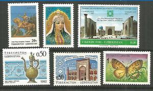 Uzbekistan 1992-93 years mint stamps MNH (**)