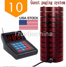 Restaurant Coaster 10 Pagers Wireless Guest Waiter Calling Paging Queuing System