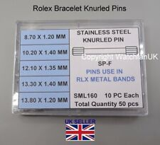 Steel Knurled Bracelet Pins For Rolex Watches 5 Sizes 50 PINS